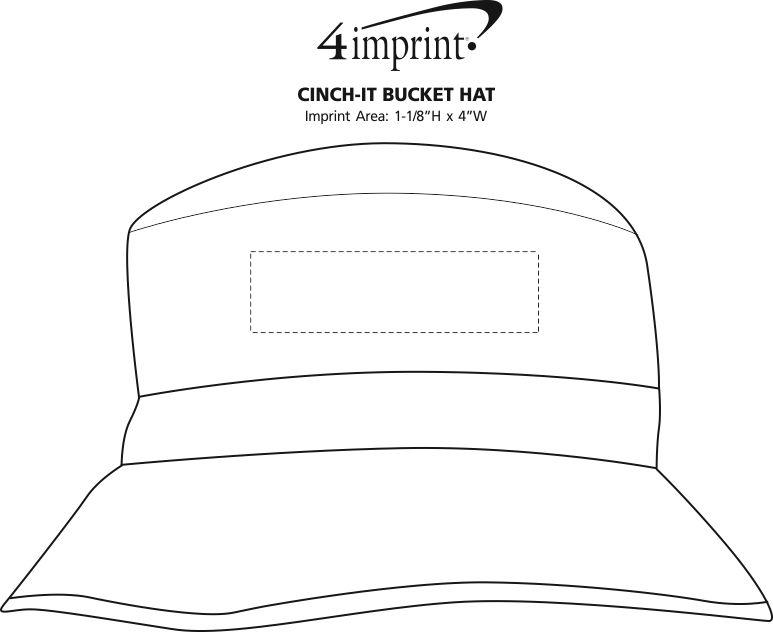 Imprint Area of Cinch-It Bucket Hat