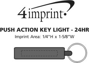 Imprint Area of Push Action Key Light - 24 hr