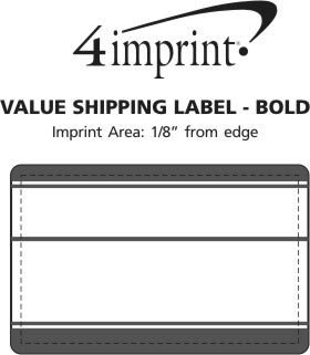 Imprint Area of Shipping Label - Bold