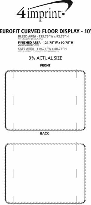 Imprint Area of EuroFit Curved Floor Display - 10'