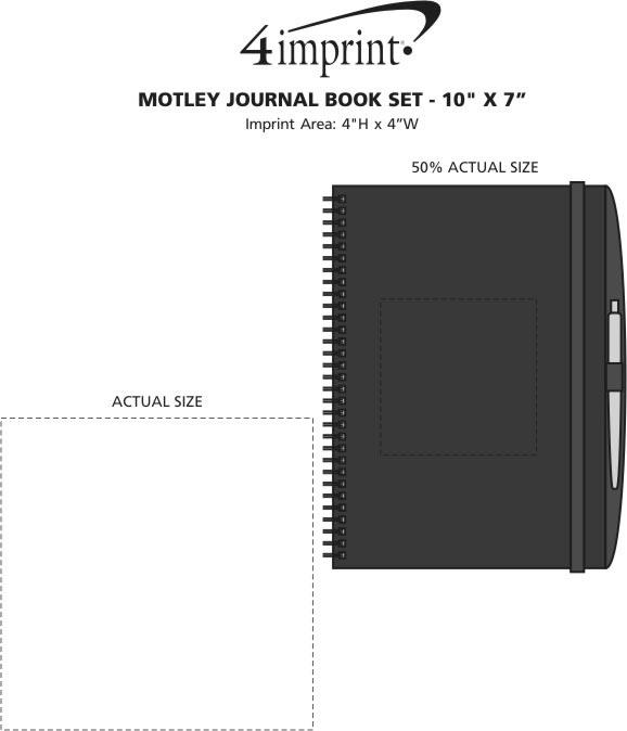 "Imprint Area of Motley Journal Book Set - 10"" x 7"""