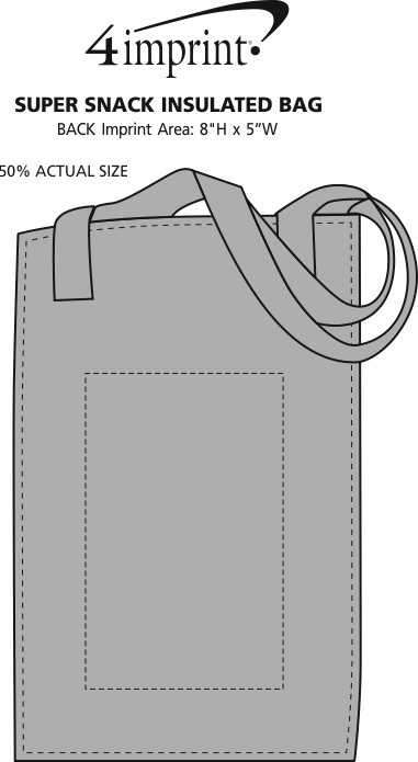 Imprint Area of Therm-O Super Snack Insulated Bag