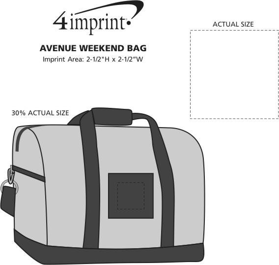 Imprint Area of Avenue Weekend Bag