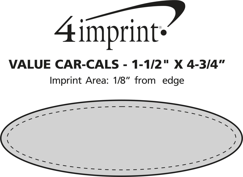 """Imprint Area of Car-Cals - 1-1/2"""" x 4-3/4"""""""