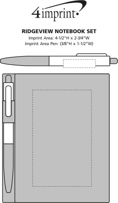 Imprint Area of Ridgeview Notebook Set