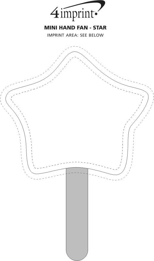 Imprint Area of Mini Hand Fan - Star