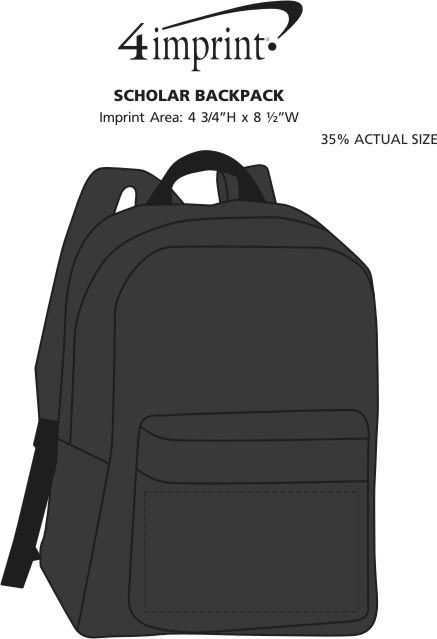 Imprint Area of Scholar Backpack