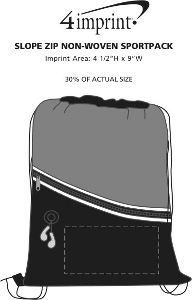 Imprint Area of Slope Zip Non-Woven Sportpack