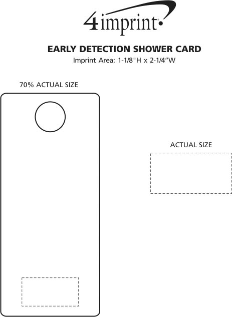 Imprint Area of Early Detection Shower Card