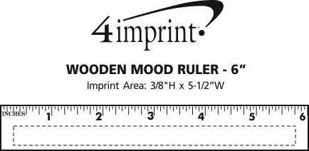 "Imprint Area of Wooden Mood Ruler - 6"""