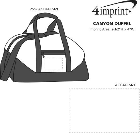 Imprint Area of Canyon Duffel
