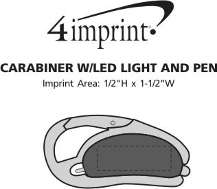 Imprint Area of Carabiner with LED Light and Pen