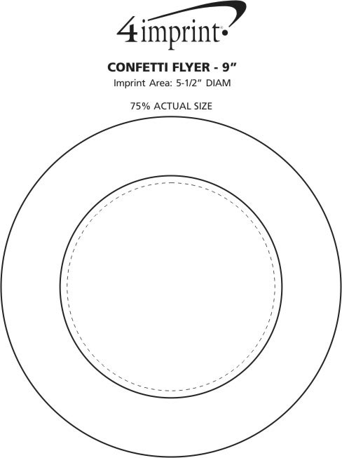 "Imprint Area of Confetti Flyer - 9"""