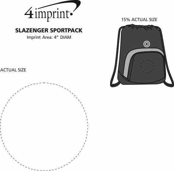 Imprint Area of Slazenger Turf Series Sportpack - Embroidered