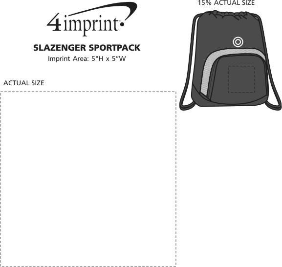 Imprint Area of Slazenger Turf Series Sportpack