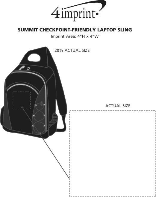 Imprint Area of Summit Checkpoint-Friendly Laptop Sling