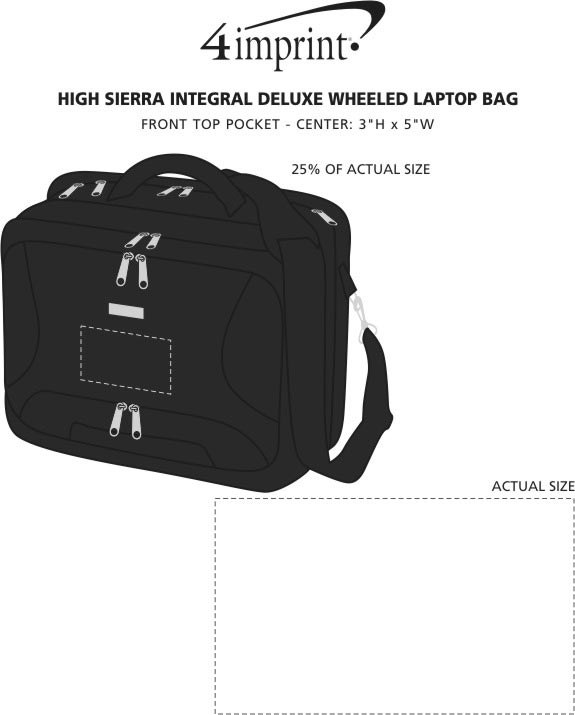Imprint Area of High Sierra Integral Deluxe Wheeled Laptop Bag