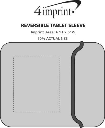 Imprint Area of Reversible Tablet Sleeve