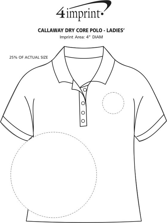 Imprint Area of Callaway Dry Core Polo - Ladies'