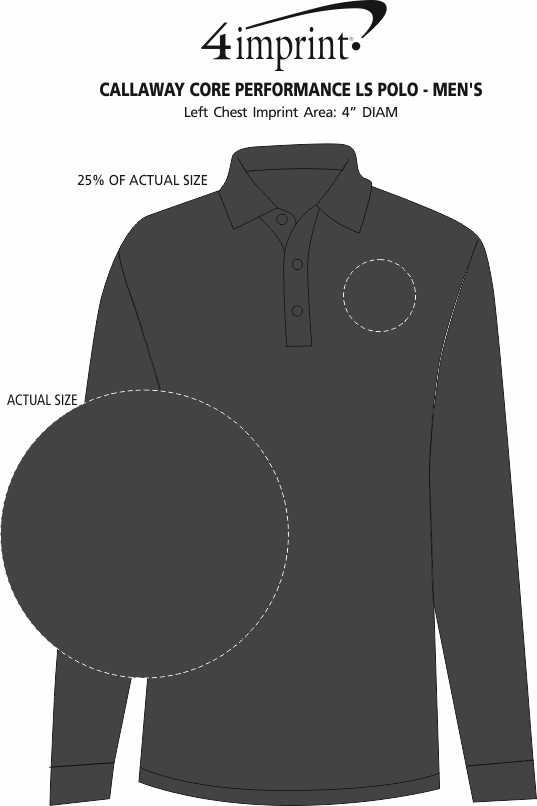Imprint Area of Callaway Core Performance LS Polo - Men's