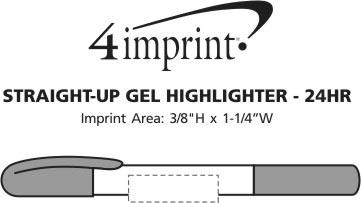 Imprint Area of Straight-Up Gel Highlighter - 24 hr
