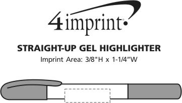 Imprint Area of Straight-Up Gel Highlighter