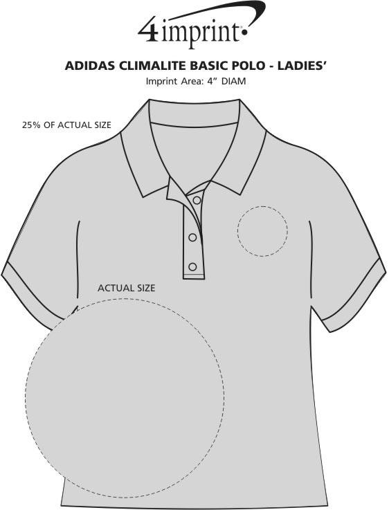 Imprint Area of adidas ClimaLite Basic Polo - Ladies'