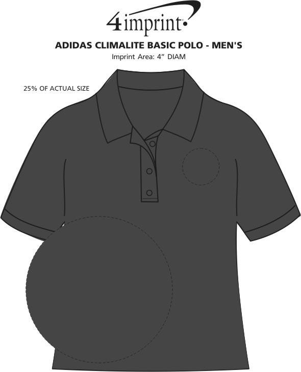 Imprint Area of adidas ClimaLite Basic Polo - Men's