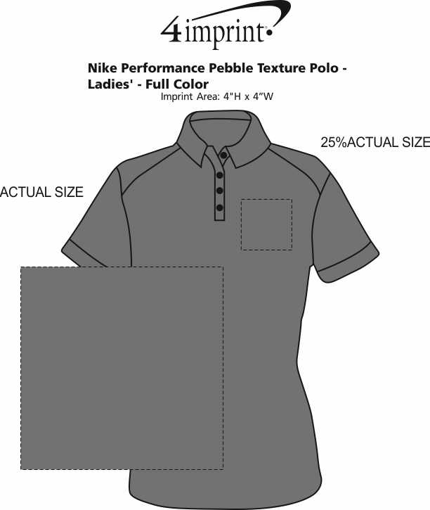 Imprint Area of Nike Performance Texture Polo - Ladies' - Full Color