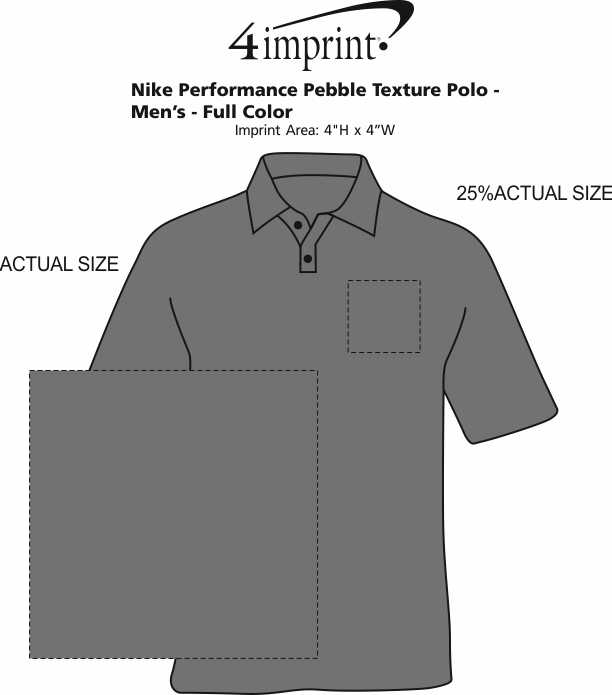 Imprint Area of Nike Performance Texture Polo - Men's - Full Color