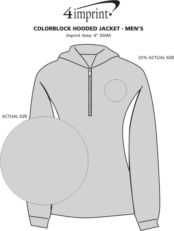Imprint Area of Colorblock Hooded Jacket - Men's