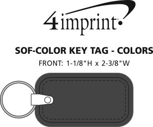 Imprint Area of Sof-Color Keychain - Colors