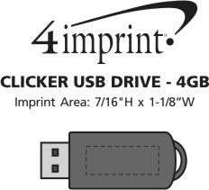Imprint Area of Clicker USB Drive - 4GB