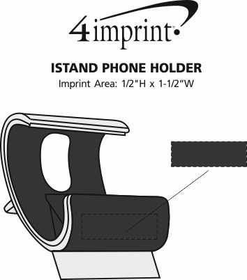 Imprint Area of IStand Phone Holder