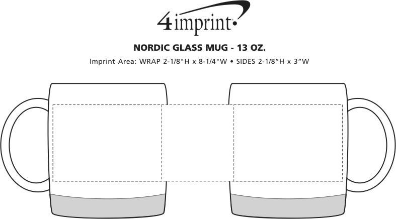 Imprint Area of Nordic Glass Mug - 13 oz.