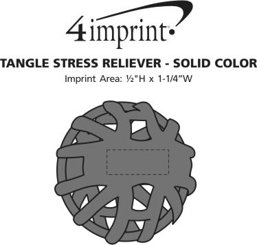 Imprint Area of Tangle Stress Reliever - Solid Color