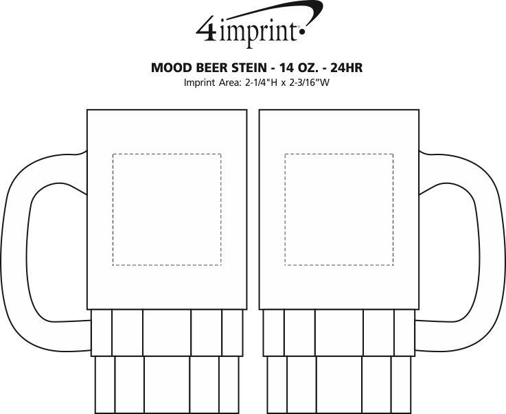 Imprint Area of Mood Beer Stein - 14 oz. - 24 hr