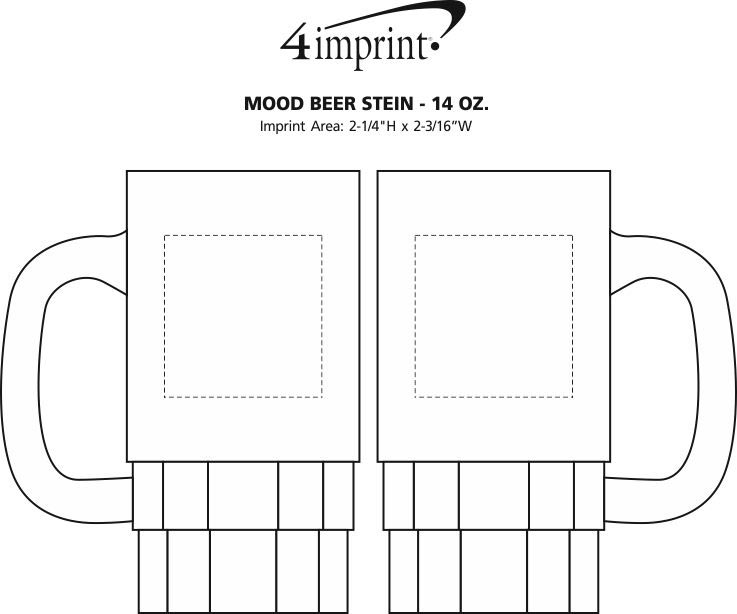 Imprint Area of Mood Beer Stein - 14 oz.