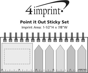 Imprint Area of Point it Out Sticky Set