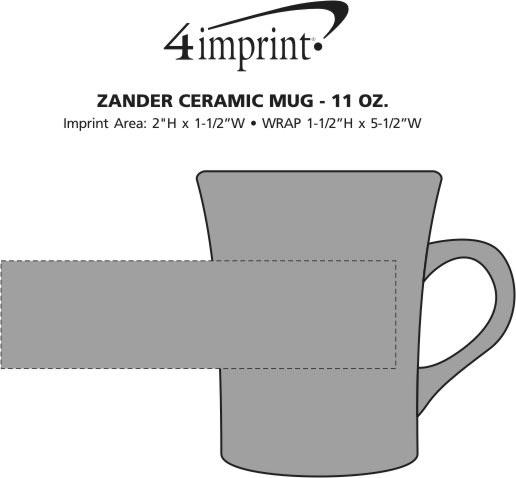 Imprint Area of Zander Ceramic Mug - 11 oz.