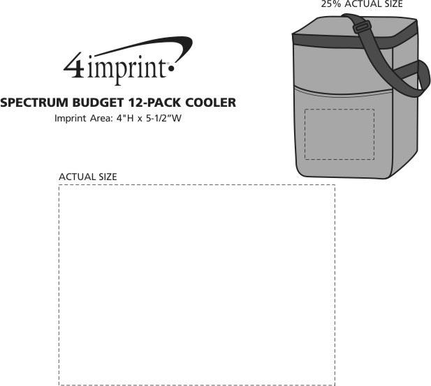 Imprint Area of Spectrum 12-Pack Cooler
