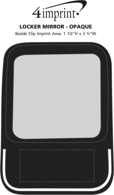 Imprint Area of Locker Mirror - Opaque