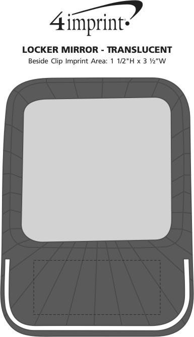 Imprint Area of Locker Mirror - Translucent