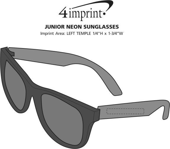 Imprint Area of Junior Neon Sunglasses