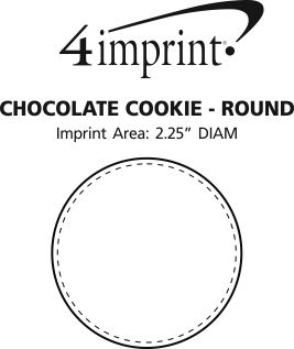 Imprint Area of Chocolate Cookie - Round