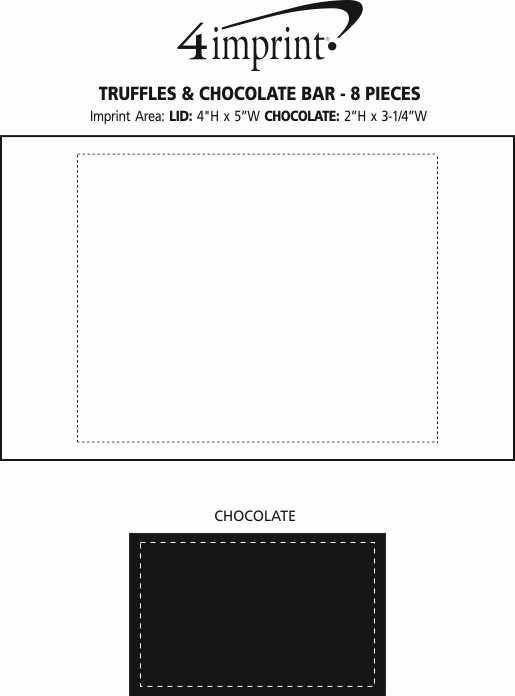 Imprint Area of Truffles & Chocolate Bar - 8 Pieces