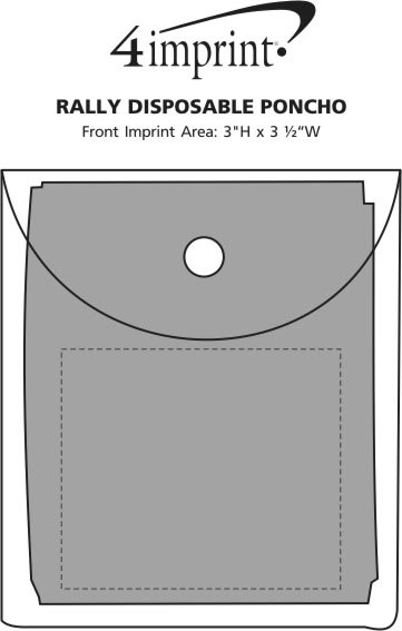 Imprint Area of Rally Disposable Poncho
