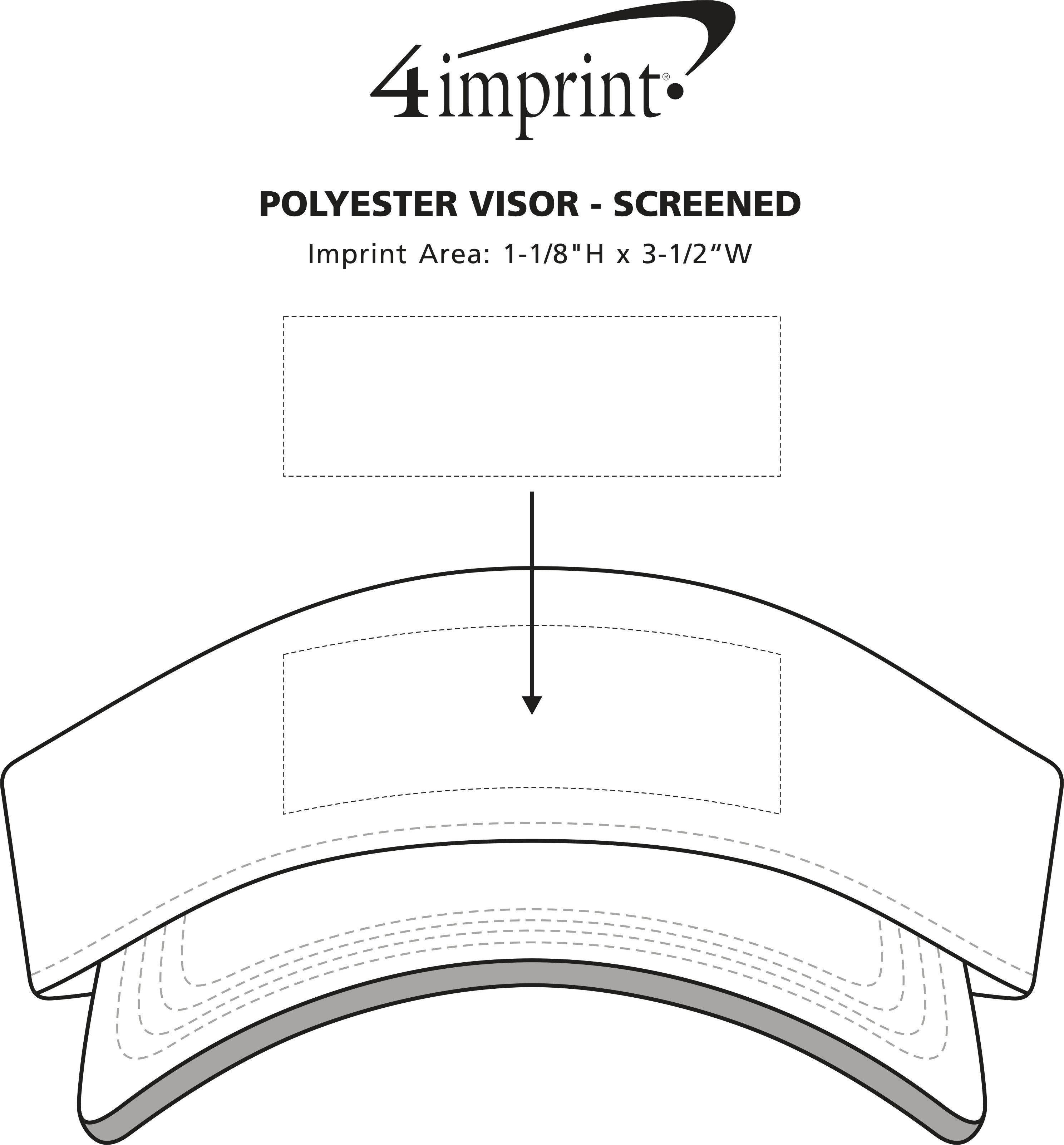 Imprint Area of Polyester Visor - Screen