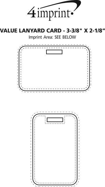 "Imprint Area of Value Lanyard Card - 3-3/8"" x 2-1/8"""