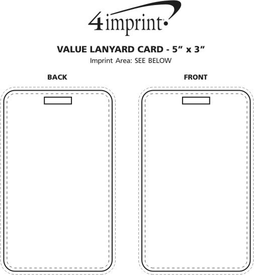 "Imprint Area of Value Lanyard Card - 5"" x 3"""